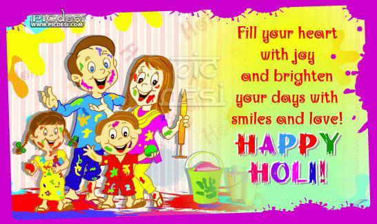 Happy Holi Heart with Joy Holi Picture
