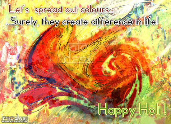 Happy Holi Spread Out Colours Holi Picture