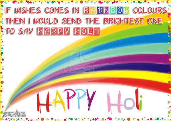 Happy Holi Rainbow Color Wishes Holi Picture