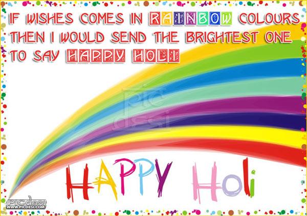 Happy Holi Rainbow Color Wishes Holi Picture