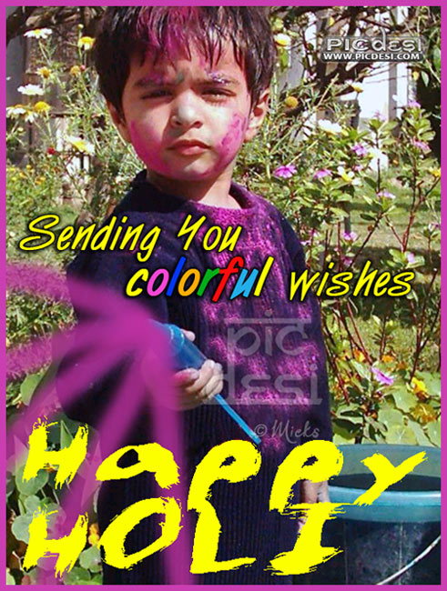 Holi Sending you Colorful Wishes Holi Picture