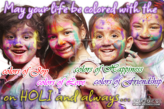On Holi May Your Life be coloured Holi Picture