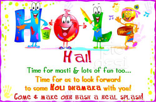Holi Hai Time For Masti Fun Holi