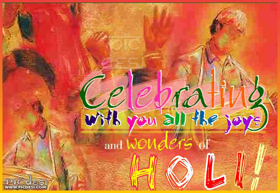Holi Celebrating with You All Joys Holi Picture