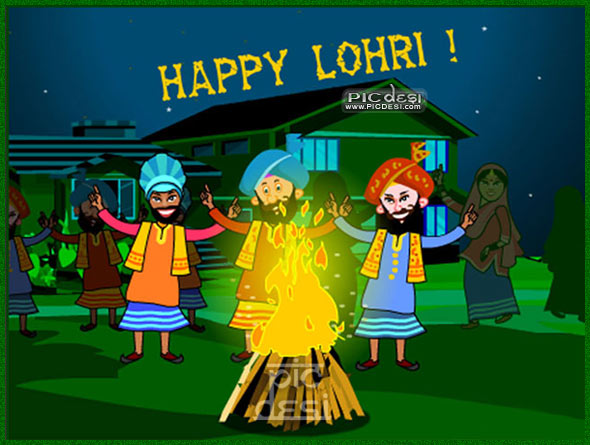 Happy Lohri Bhangra Lohri Picture