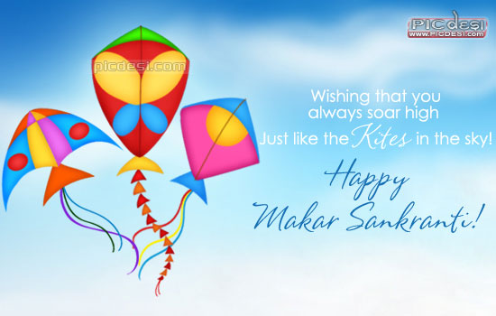Happy Makar Sankranti Soar High Like Kites Lohri Picture