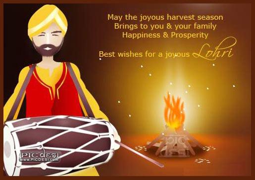 Best Wishes for a Joyous Lohri Lohri Picture