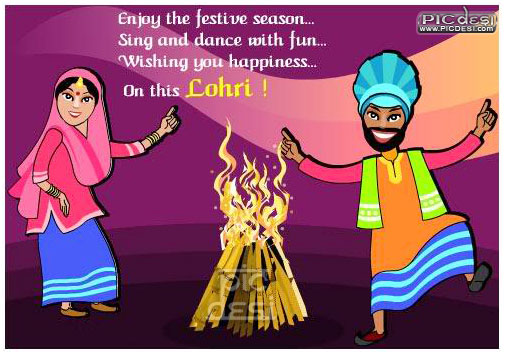 Lohri Wishing you Happiness Lohri Picture