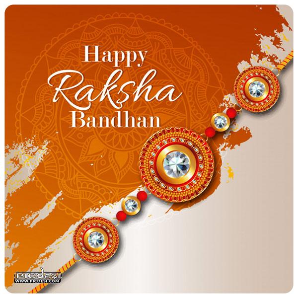 Happy Raksha Bandhan Greeting Card Raksha Bandhan Picture
