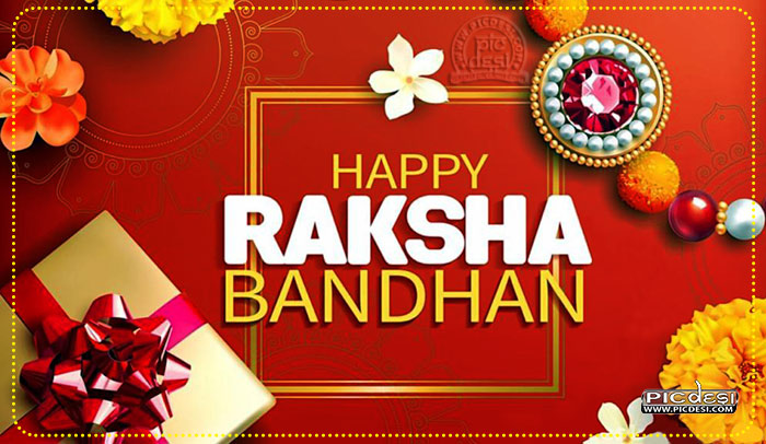 Happy Raksha Bandhan Flower Rakhi