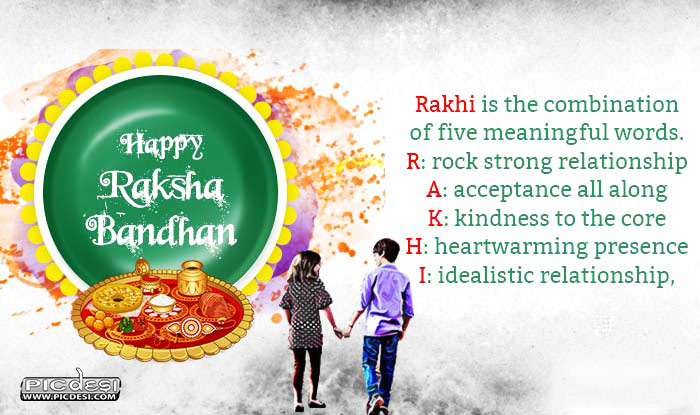 Meaning of Rakhi Raksha Bandhan Picture