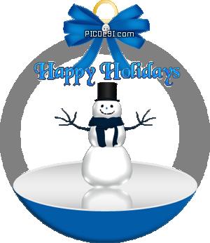 Happy Holidays Iceman Globe Happy Holidays