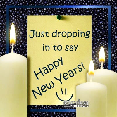Dropping to say Happy New Year New Year Picture
