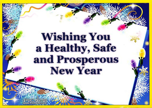Wishing Healthy & Prosperous New Year New Year