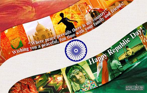 Happy Republic Day Colors of India Republic Day Picture