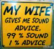 Link to My wife gives me sound advice